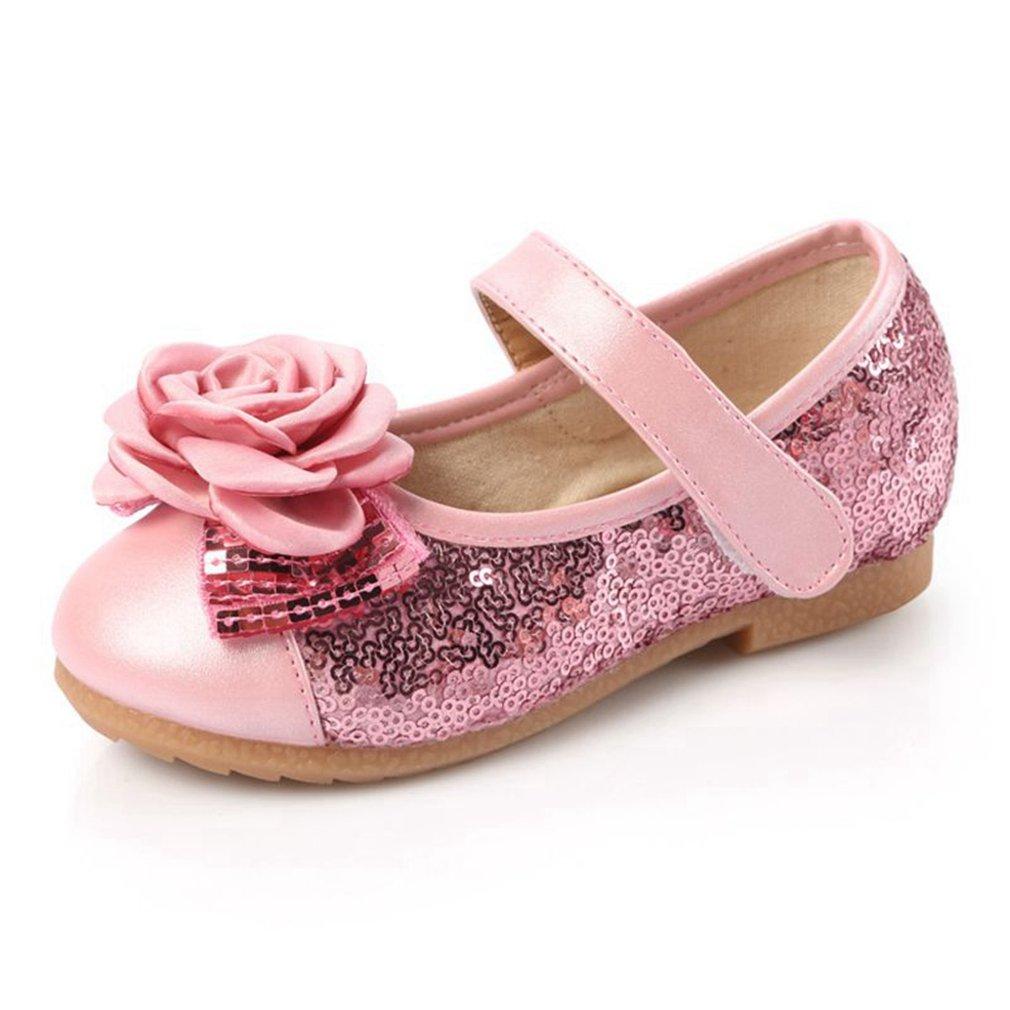 Flower Girl's Dress Shoes Sequins Princess Ballet Ballerina Flats For Wedding Party (Toddler/Little Kid)