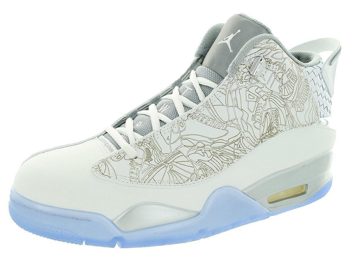 61ba6f4f7c Amazon.com | Jordan Nike Men's Air Dub Zero Laser White/White/Metallic  Silver Basketball Shoe 9.5 Men US | Basketball