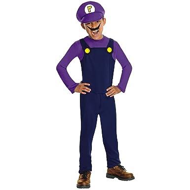 Waluigi Super Mario Brothers Costume Costume - Small  sc 1 st  Amazon.com & Amazon.com: Waluigi Super Mario Brothers Costume Costume - Small ...