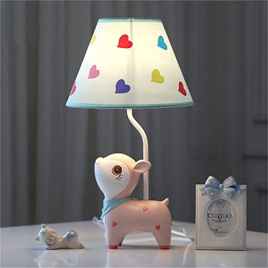 Habitación para niños Cartoon Pink Deer Lámpara de Mesa Dormitorio ...