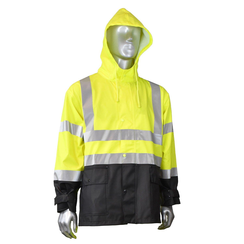 Hi-Viz Green Radians RJ07-3ZGV-2X Fortress 35 High Visibility Rainwear Jacket XX-Large