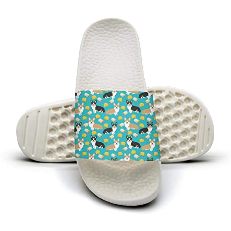 3b060a40091d3 Xjdws Corgi Tacos Cute Corgi Dogs Womens Sandals Indoor Outdoor Home  Slippers Anti-Slip