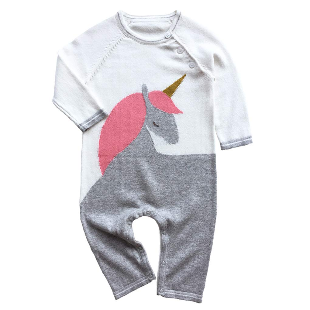 Shiny Toddler Baby Boys//Girls Cotton Cartoon Romper Jumpsuit Coverall