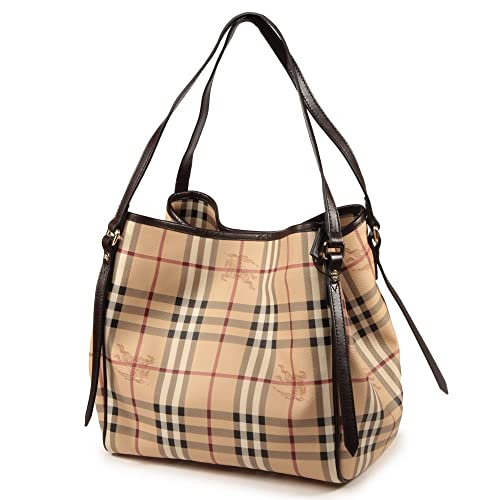 Burberry Haymarket Small Canterbury Tote in Chocolate Check  Amazon.ca   Shoes   Handbags d29835063d499