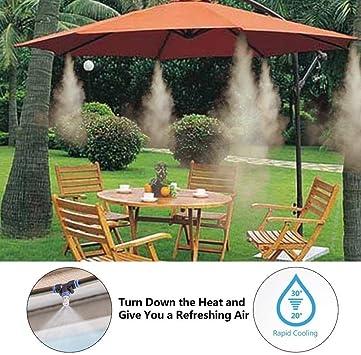 GuoYq Sistema de atomización del Sistema de riego de jardín, Kit de rociadores de riego por aspersión en la terraza, refrigeración al Aire Libre, jardín, Piscina, múltiples tamaños: Amazon.es: Hogar