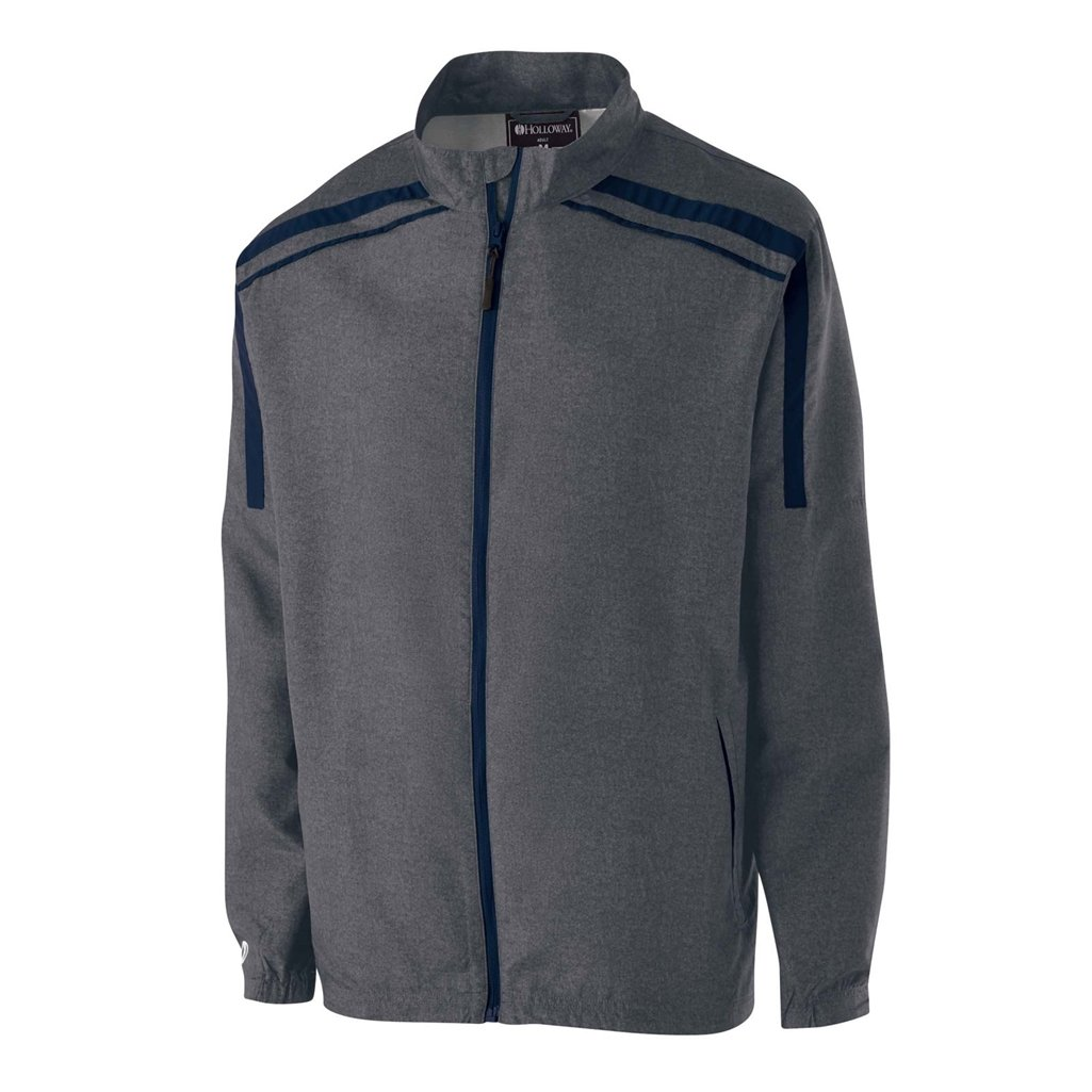 Holloway Raider Youth Lightweight Jacket (Small, Carbon Print/Navy) by Holloway
