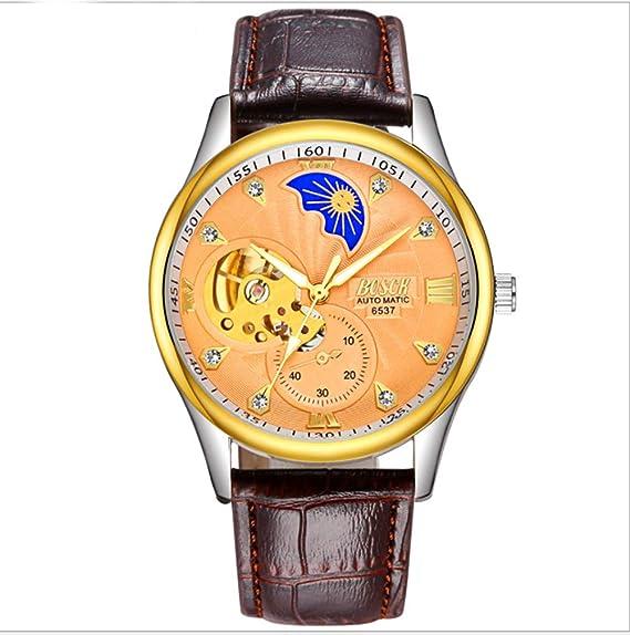 Relojes Relojes para Hombre Hombres Esqueleto Mecánico Reloj de Pulsera Negro Calendario Volante Diseño Moda Casual Precisión Relojes automáticos ...