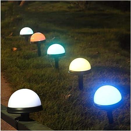 WXL 2 Piezas De LED RGB De Jardín Iluminación Impermeable Foco 8 Cambio De Color De La Seta por Estanque De Jardín Al Aire Libre del Paisaje De La Decoración: Amazon.es: Hogar