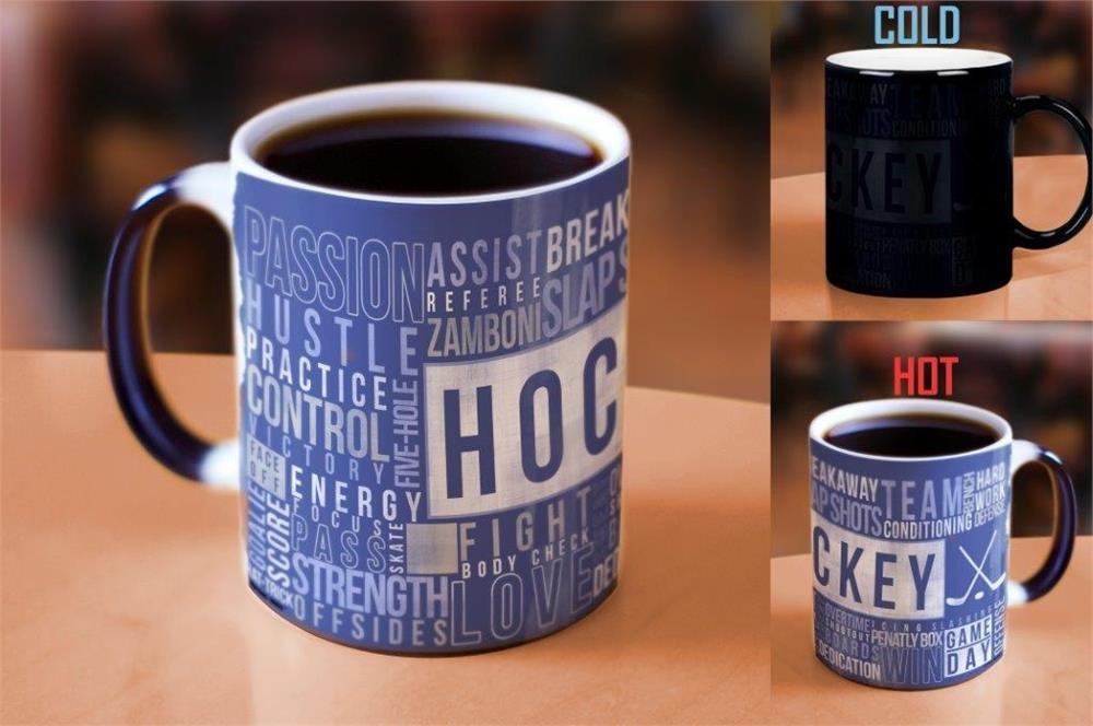 11 Ounce Hockey Morphing Mugs Sports Themed Heat Reveal Ceramic ...
