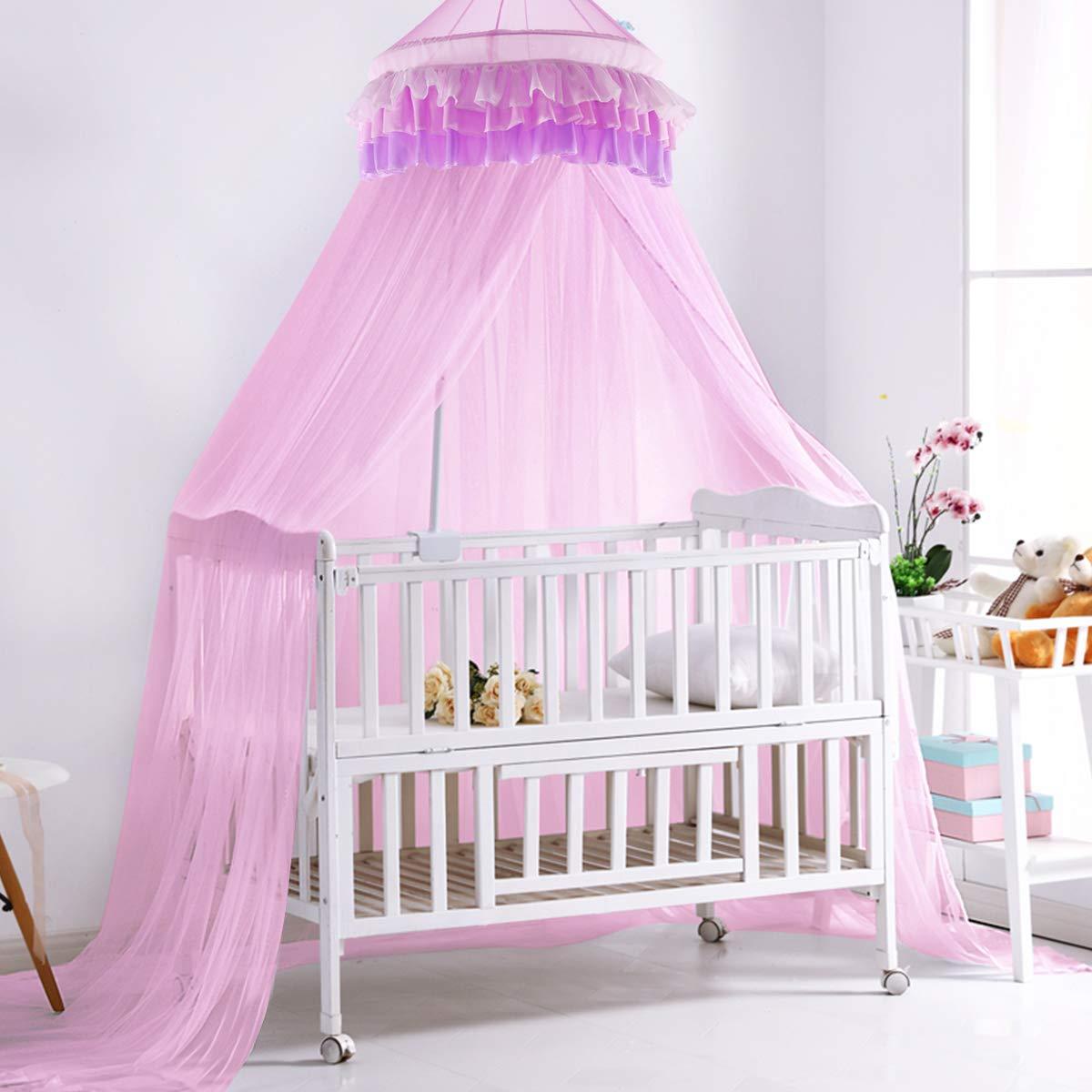 Amazon.com: Dosel de encaje para cama Superbuy, elegante ...