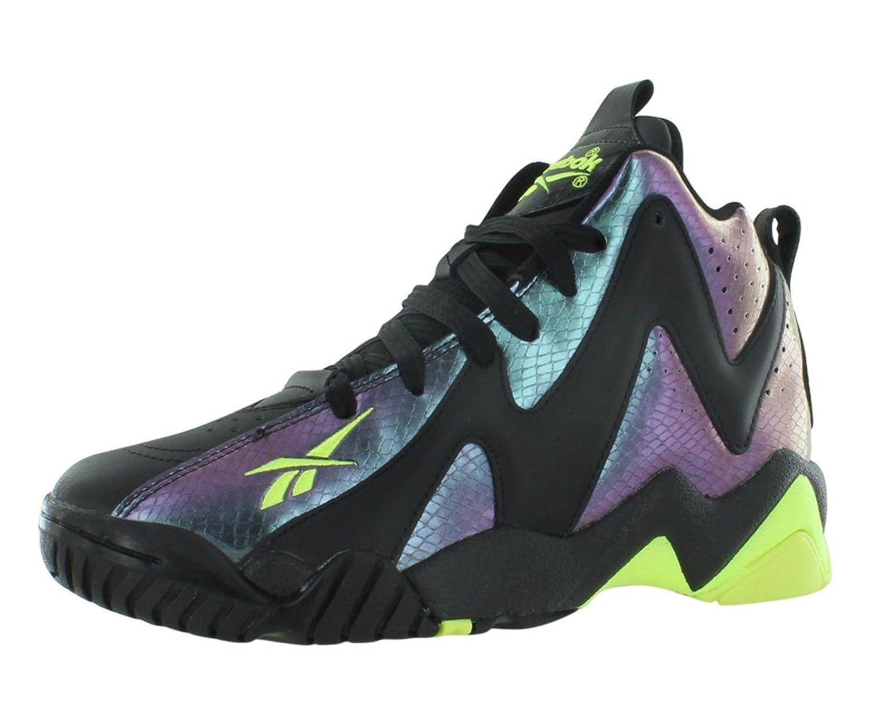 Amazon.com | Reebok Kamikaze II Mid-Nocturnal Boy\u0027s Sneakers Neon  Yellow/Black Nocturne V61350 | Sneakers