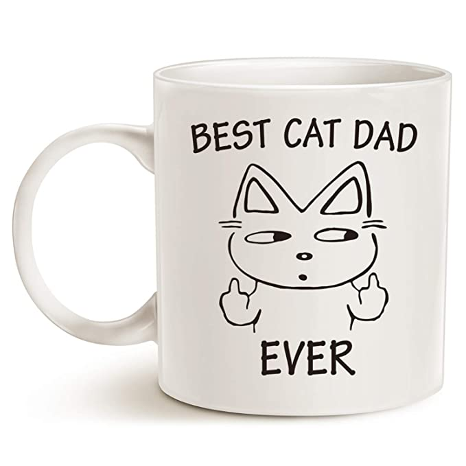 ff4ea0bd Amazon.com: Fathers Day Gifts Funny Christmas Gifts Cat Dad Coffee Mug for  Cat Lovers - Best Cat Dad Ever - Best Cute Father's Day Gifts for Dad Cup  White, ...