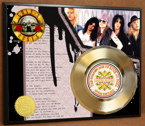 G.A.R.R. Guns n Roses Gold Record Poster Art Limited Edition Commemorative Music Memorabilia Display Plaque
