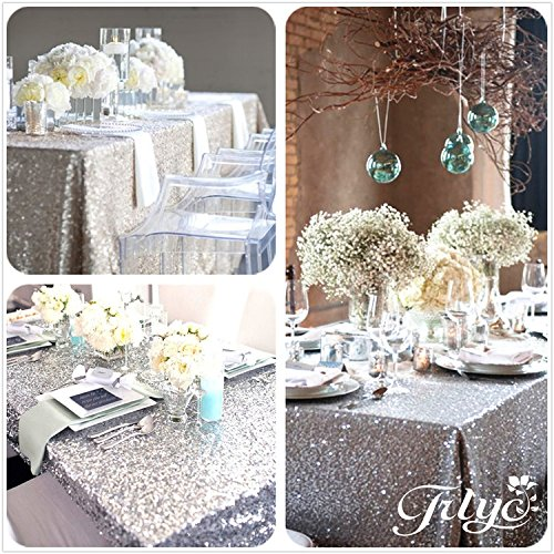 TRLYC 12''x108'' SALE! Sequin Tablecloth, Wedding table runner tablecloth, Custom chevron sequin table runner