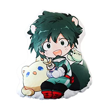 Mikucos Anime Boku No Hero My Hero Academia Midoriya Izuku Plush Doll Toy Pillow Cushion 48CM