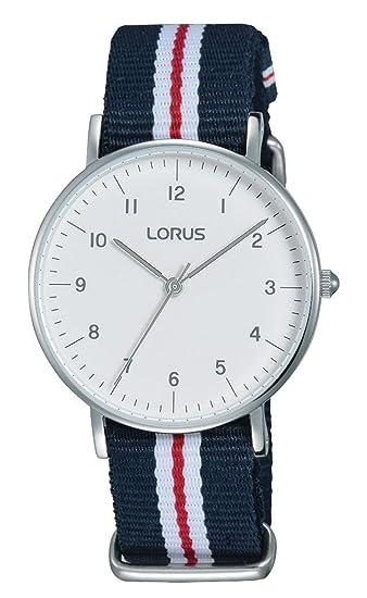 b40bd622f838 Lorus Reloj Analógico para Mujer de Cuarzo con Correa en Tela RH805CX9   Amazon.es  Relojes
