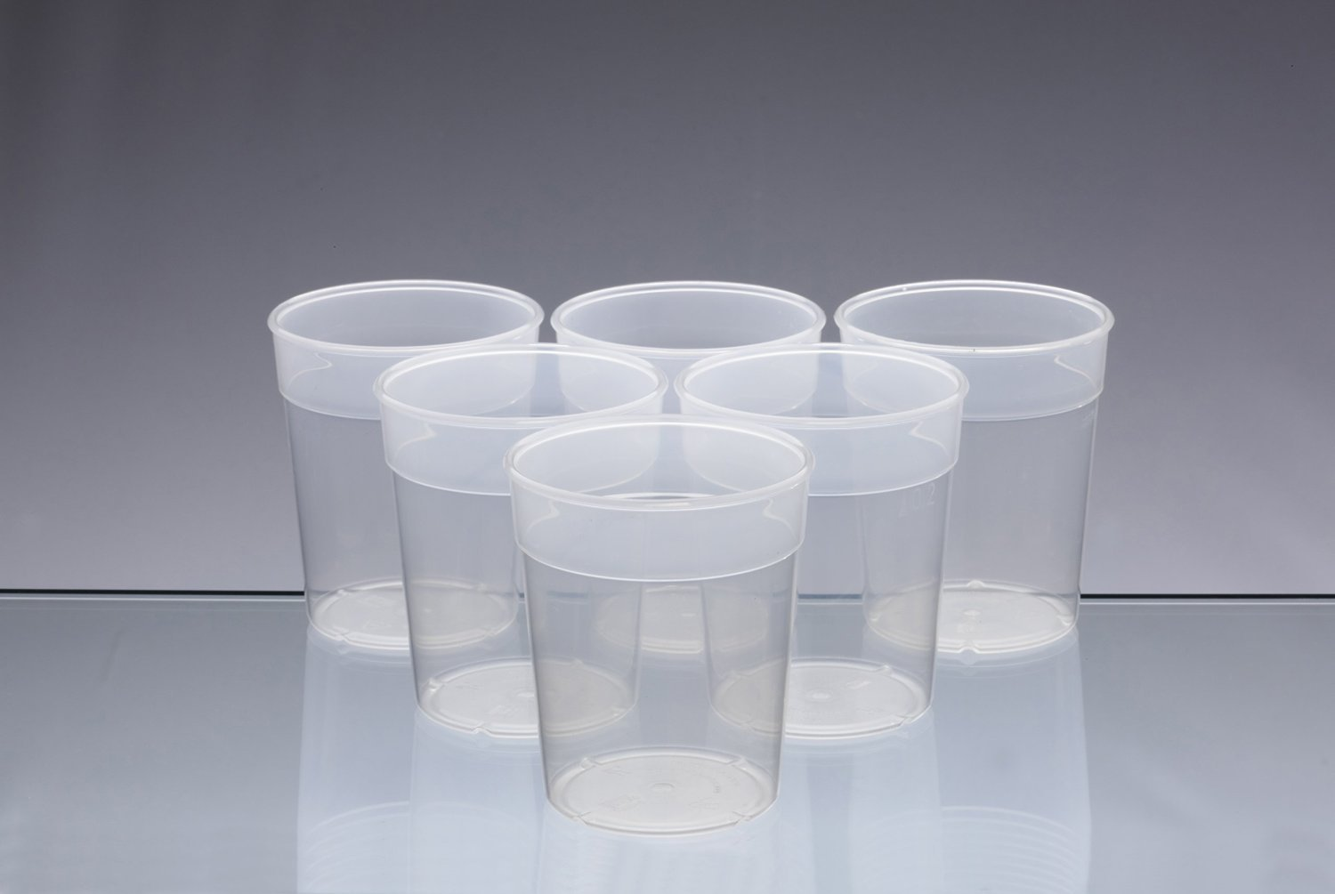 Dishwasher Safe Stackable Transparent Plastic Cups / Beakers / Tumblers 250ml (set of 6) AIOS