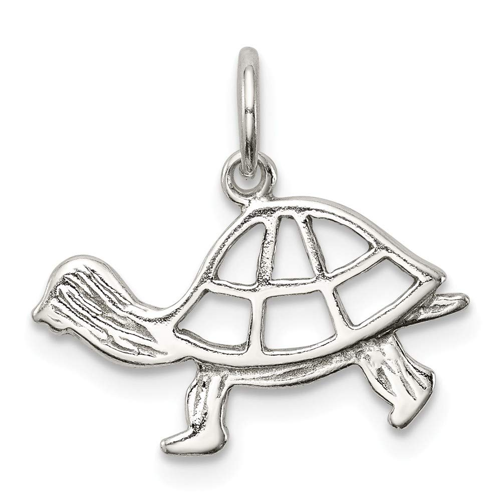 approximately 10 x 17 mm Mireval Sterling Silver Turtle Charm