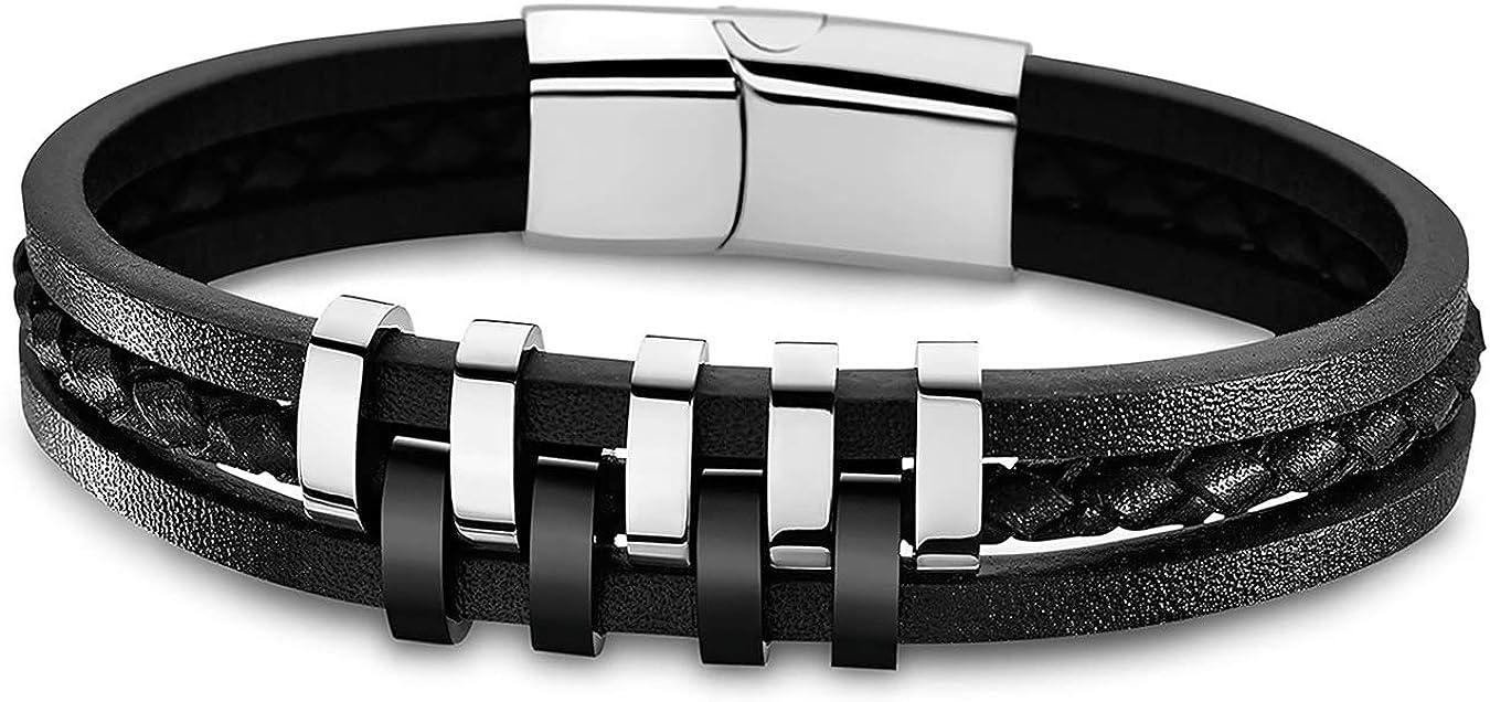 Lotus Style Bracelet Homme Cuir & Acier LS1838-2/1