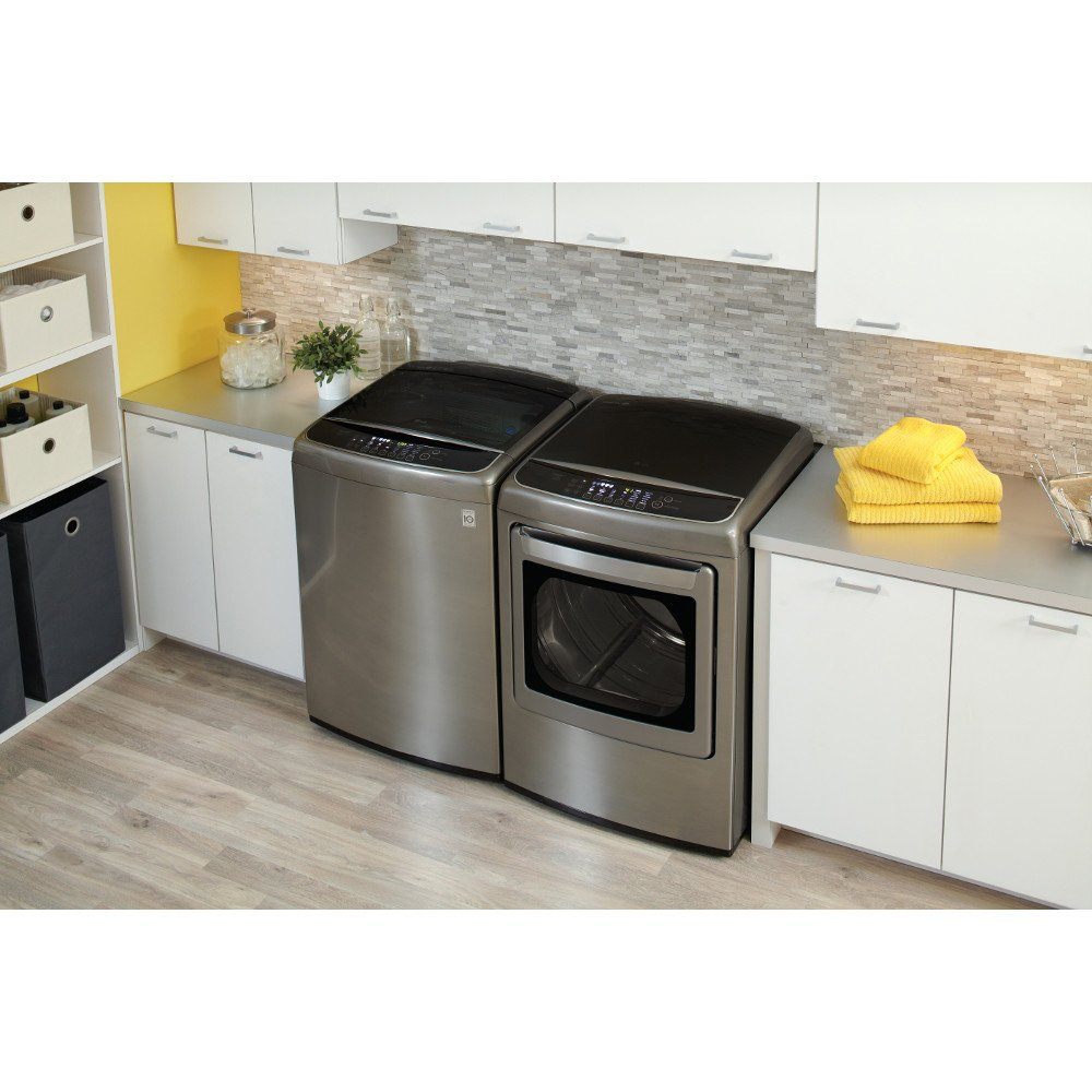 The best top load washer on the market - Lg Graphite Steel Top Load Laundry Pair With Wt1701cv 27 Washer And Dley1701v 27 Electric Dryer