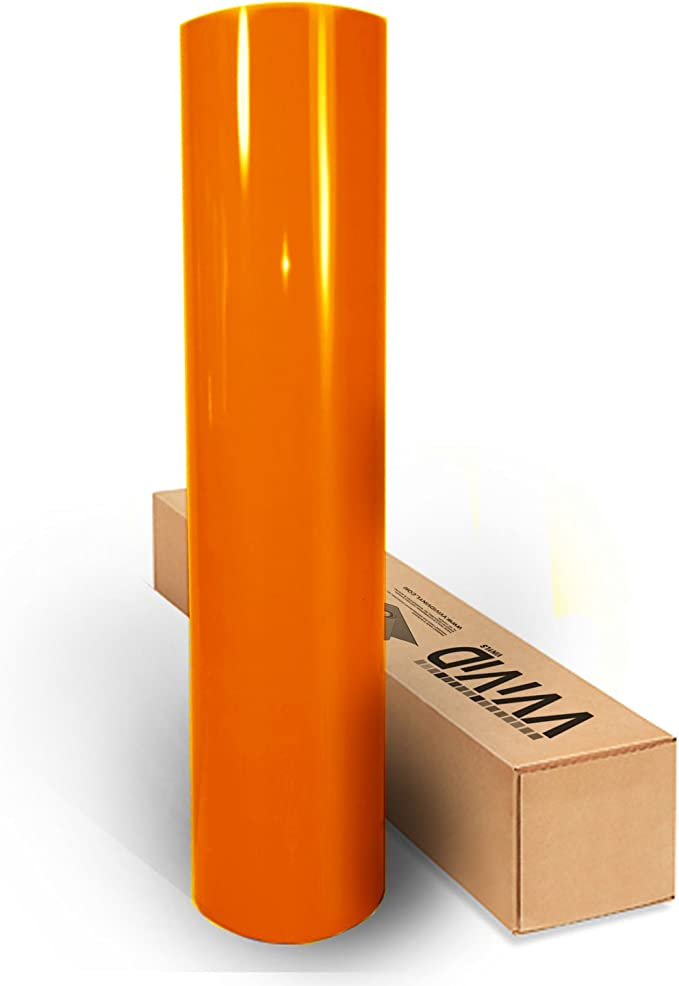 2ft x 5ft Orange 3D Carbon Fiber Vinyl Wrap Roll with VViViD XPO Air Release Technology