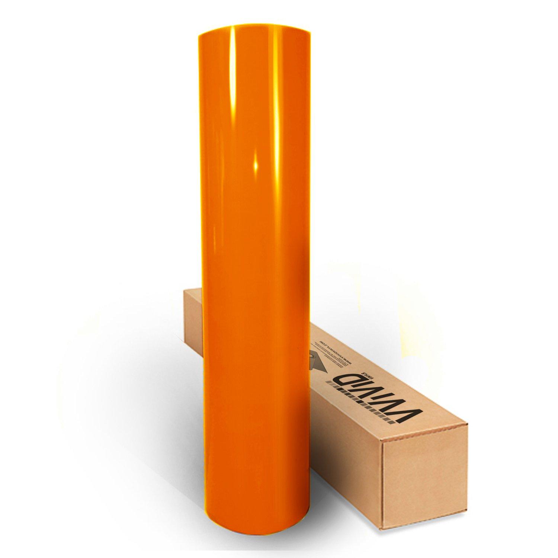 VViViD Orange High Gloss Realistic Paint-Like Microfinish Vinyl Wrap Roll XPO Air Release Technology (10ft x 5ft)