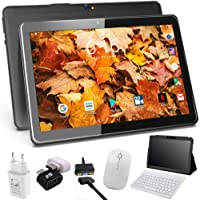 Tablet 10 Pulgadas 4G Android 9.0 4GB RAM 64GB de Memoria, Escalable 128GB - Tableta Dual SIM Quad Core Batería 8000mAh con Interfaz de Carga de Magnética / USB - Soporte Netflix, WiFi, Bluetooth, GPS