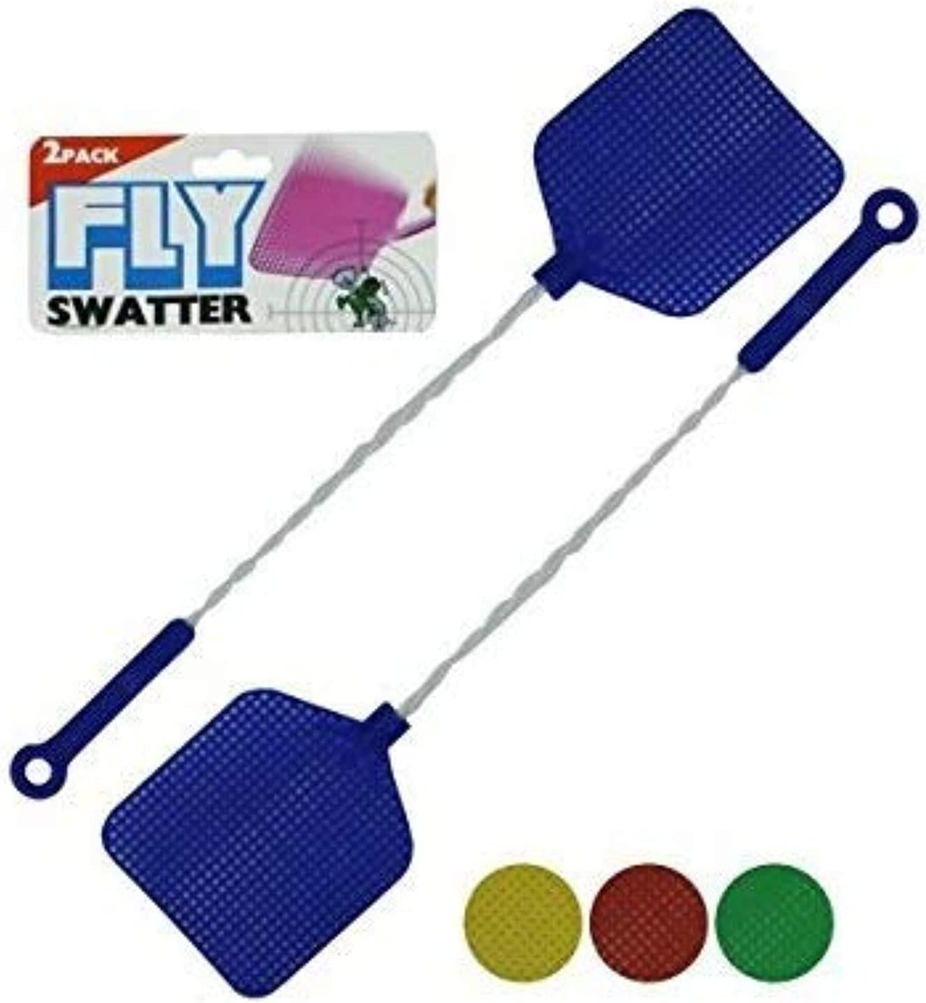 Fly Swatter with Wire Handles 9 x 5 x 1 Inches 2 Pack