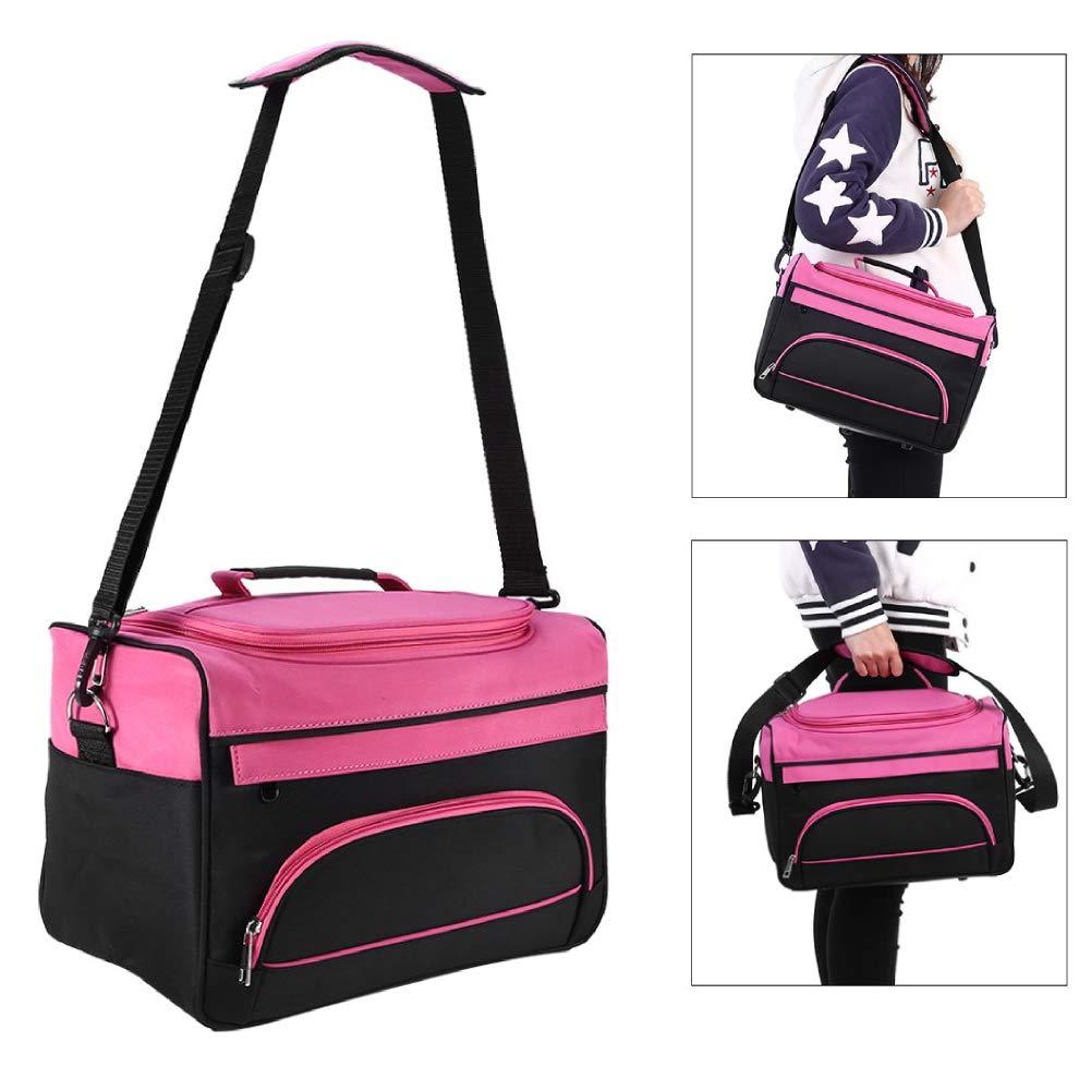 ZJchao Hairdressing Tools Storage Carrying Case, Hairdresser Designer Session Bag Large Mobile Hair Salon Kit Holder