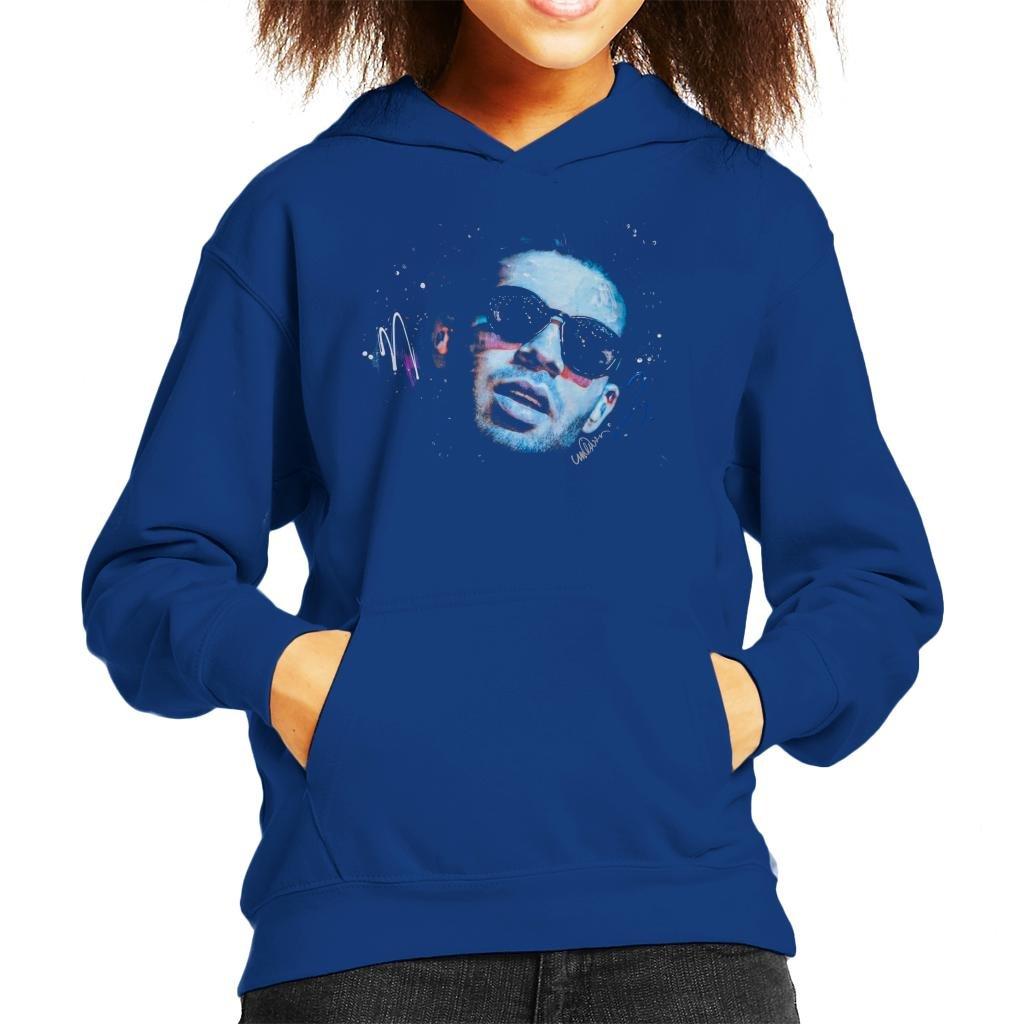Sidney Maurer Original Portrait of Drake Sunglasses Kid's Hooded Sweatshirt