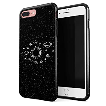 4933dbecebe Funda Para iPhone 7 Plus & 8 Plus Space Stars Galaxy Cute Sun Solar System  Tumblr ...