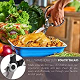 Premium Kitchen Scissors and Poultry Shears - Heavy Duty Multi-Purpose Cooking Tool for Cutting Chicken, Meat and Fish - Stainless Steel