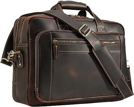 Color : Black, Size : Free Size Briefcase Mens Bag Shoulder Bag Retro Travel Mens Computer Bag Tote Casual Work Bag Messenger Bag