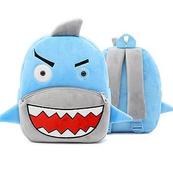 XLHMILY Mini dibujos animados 3D Mochila Infantiles Niños mochila animal tiburón unicornio mochila algodón de jardín de infantes para niñas o niños 2-6 ...