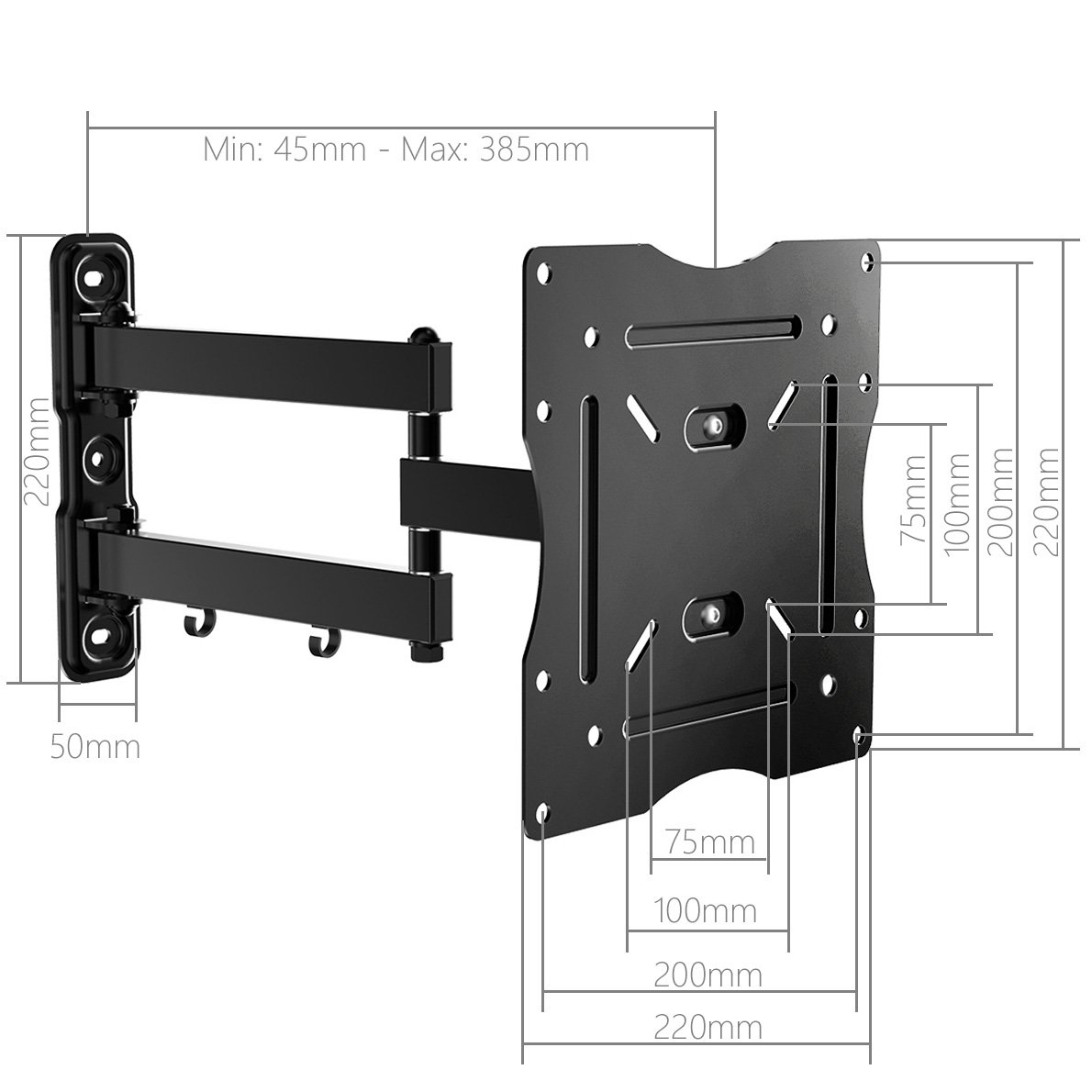 Stealth Mounts Cantilever TV Bracket for up to 42 inch TVs