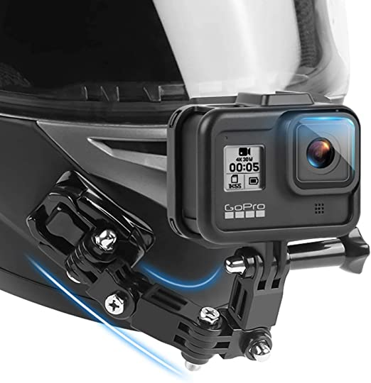 Ruigpro Motorcycle Helmet Chin Mount Compatible With Gopro Hero9 8 7 6 5 Black 4 Session 3 Campark Yi Action Camera Helmet Front And Side Swivel Mount And Adhesive Mounts With Sticky Pads Amazon Ca Cell Phones Accessories