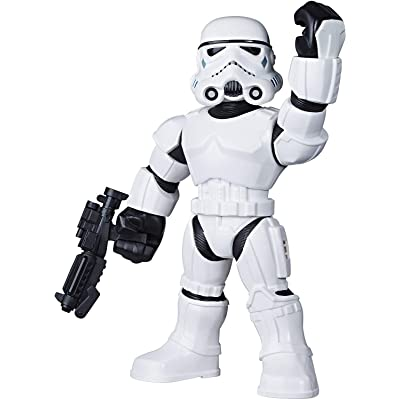 "Star Wars Galactic Heroes Mega Mighties Stormtrooper 10"" Action Figure with Blaster Accessory, Toys for Kids Ages 3 & Up: Toys & Games"
