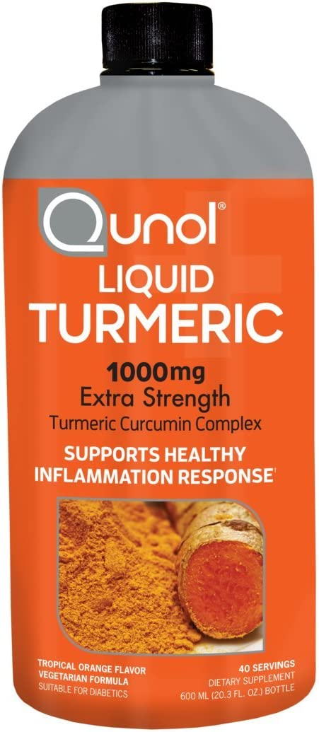 Qunol Liquid Turmeric Curcumin with Black Pepper 1000 Milligram, Anti-Inflammatory, Dietary Supplement, Extra Strength, 40 Day Supply, 40 Servings 40 Day Supply