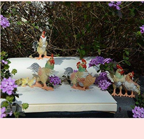 Fantasy Fairy Garden Craft Desktop Decor Cartoon Chicken Micro Landscape Children'S Day (Fairy Fantasy Crafts)