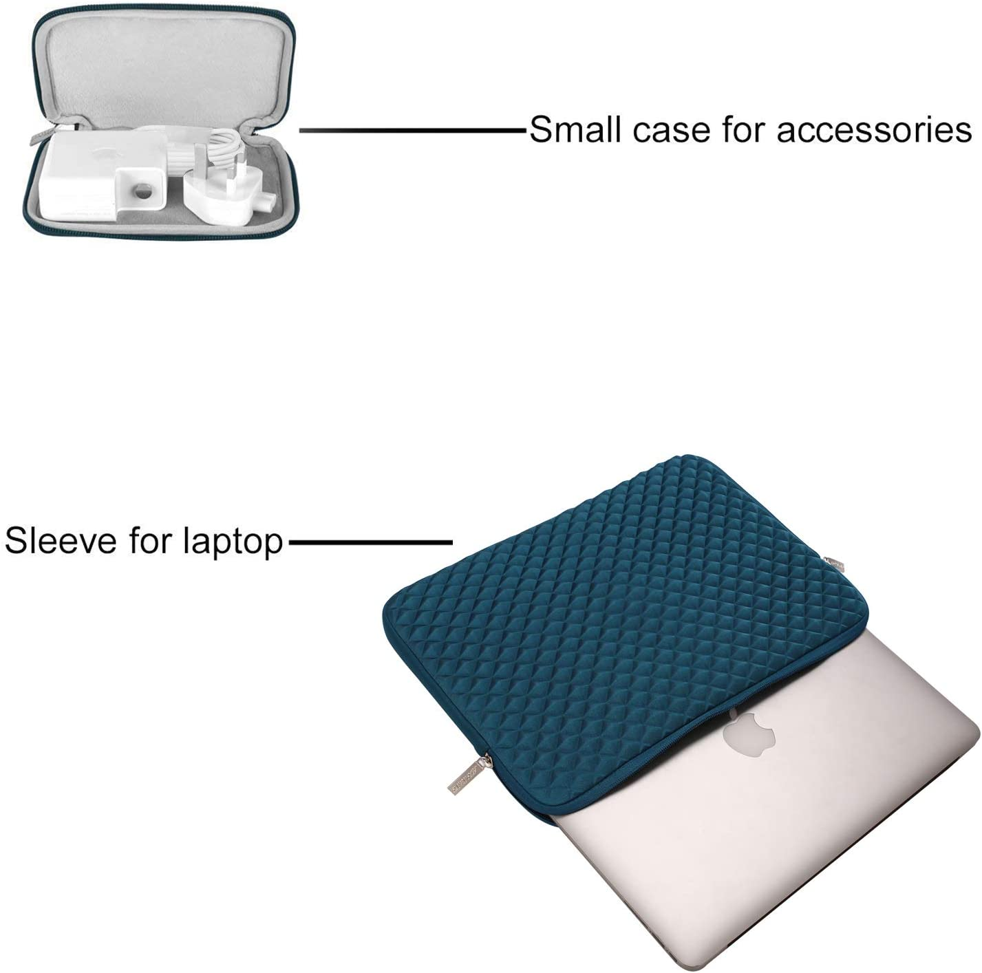 MOSISO Laptop Sleeve Compatible with 2019 2018 MacBook Air 13 inch Retina Display A1932 13 inch MacBook Pro A2159 A1989 A1706 A1708 Diamond Foam Neoprene Bag Cover with Small Case Wine Red