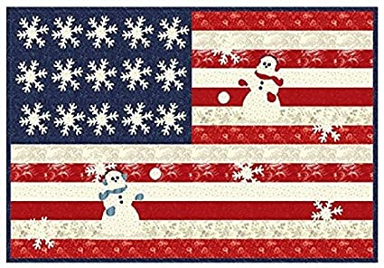 Amazon Com Snowberry Quilt Kit Quilt Pattern Moda Patriotic