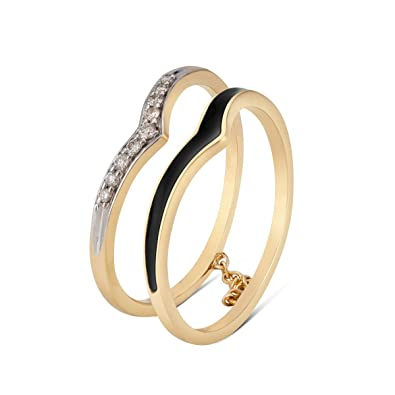 Buy Mia By Tanishq 14kt Yellow Gold And Diamond Ring For Women