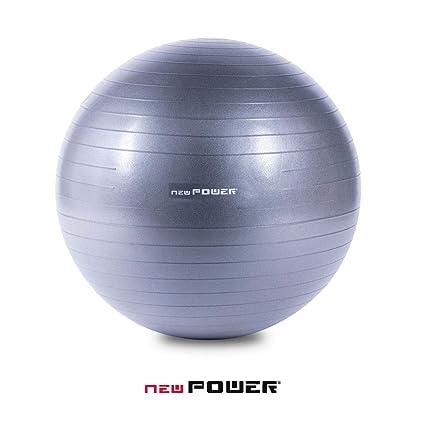NEWPOWER - Pelota de Ejercicio Fitball 75cm, Anti-pinchazos ...