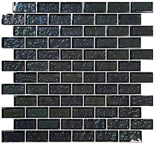 Graphite Glass Tile Blend 1''x 2'' by Ceramic & Glass Tile Store