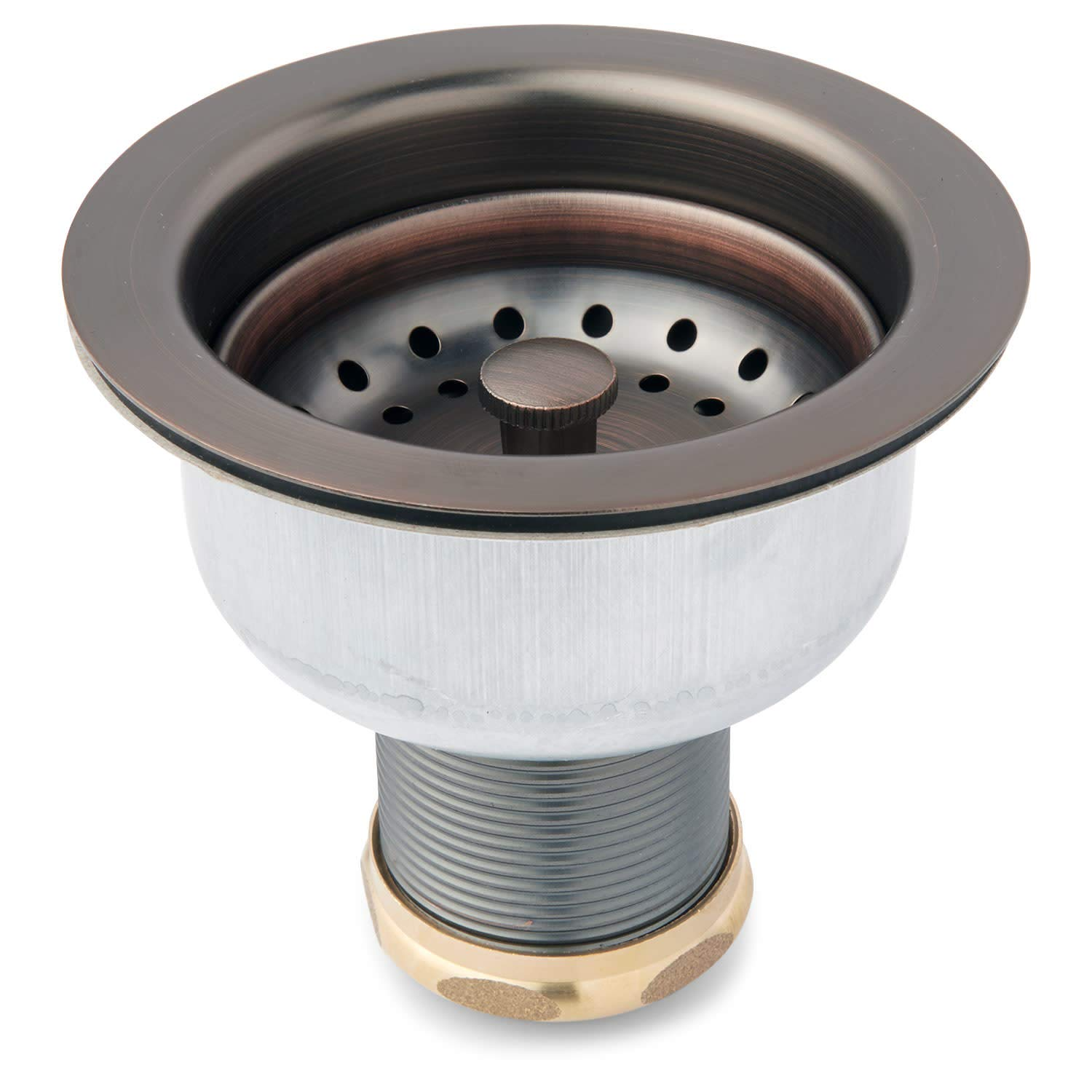 Signature Hardware 413855 3-1/2'' Basket Strainer with Sink Flange for Sinks up to 1'' Thick - Set of Two