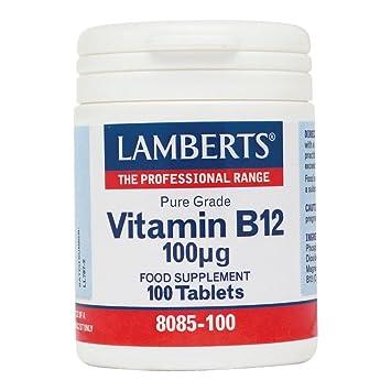 LAMBERTS VITAMINA B12 100 mcg. 100 comp.