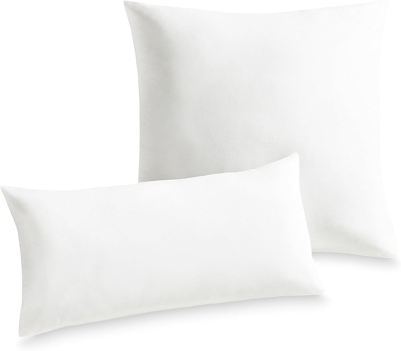 Frankenstolz Schlaf Gut Utah Kissen gesteppt, Polyester, Baumwolle, Weiß, 40x80