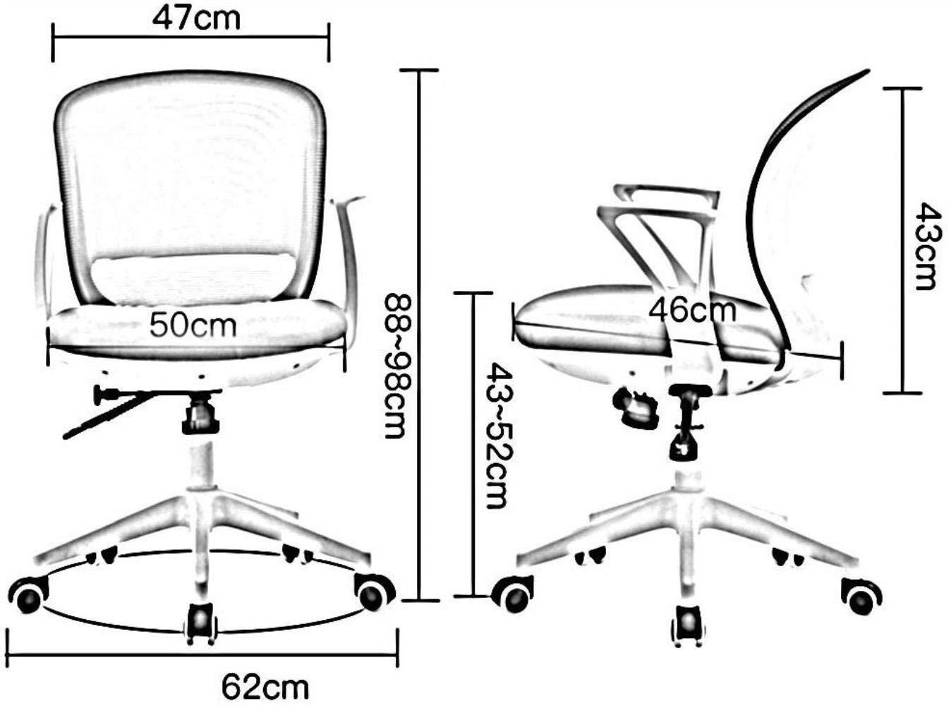Barstolar Xiuyun kontorsstol spelstol svängbar stol, sömnad färg nät gasväv datorstol, ergonomisk lyftstol, skrivbord skrivstol, personalstol, sovsal stol (färg: A) F