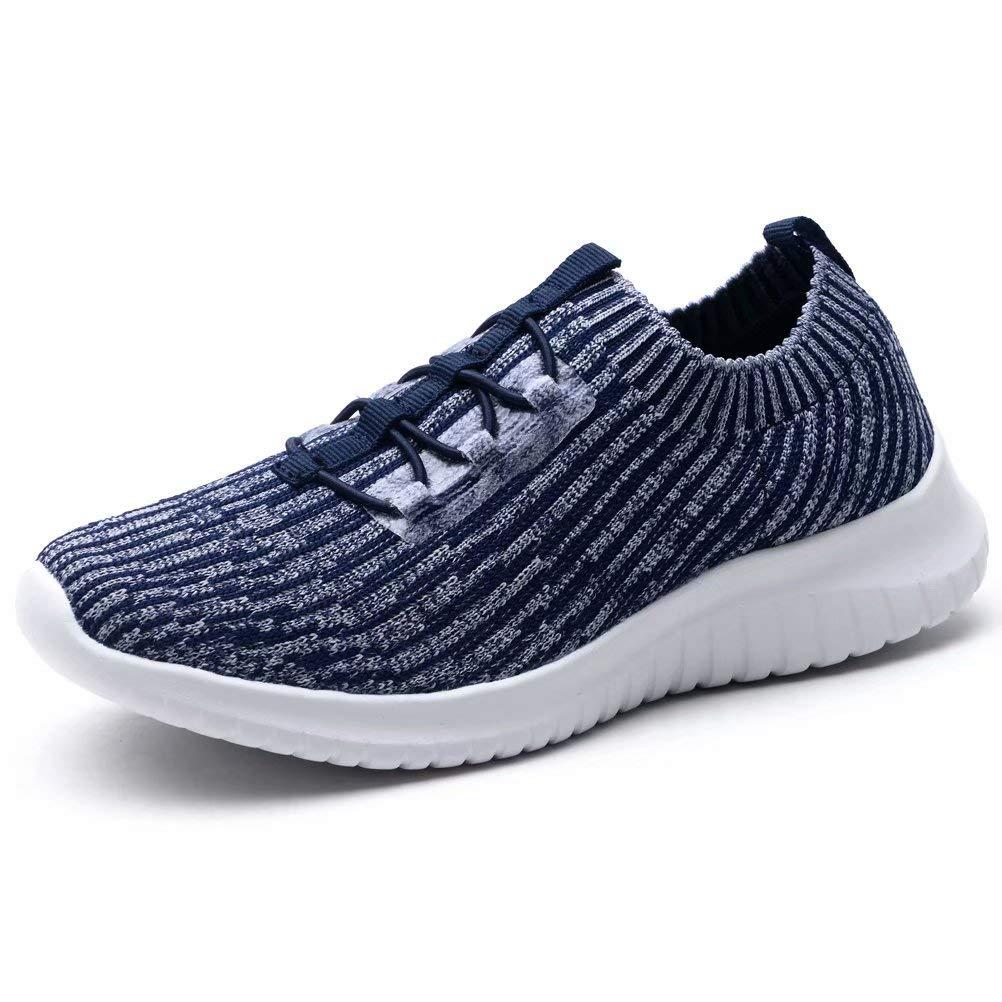 2122 Navy 6 M US LANCROP Women's Athletic Walking shoes - Casual Mesh Lightweight Running Slip On Sneakers