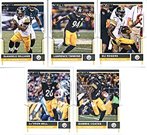 2017 Score Pittsburgh Steelers Team Set of 10 Cards: Eli Rogers(#27), Lawrence Timmons(#61), DeAngelo Williams(#93), Sammie Coates(#106), Le'Veon Bell(#116), James Harrison(#146), Ben Roethlisberger(#197), Jesse James(#217), Ryan Shazier(#244), Antonio Br